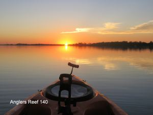 sunset with kayak front2